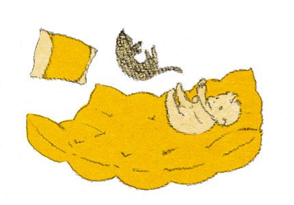 ふかふか羽毛布団