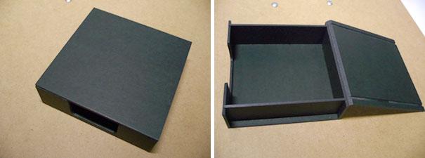紙箱の組み立て体験